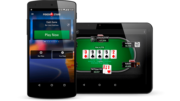 poker on mobile and tablet